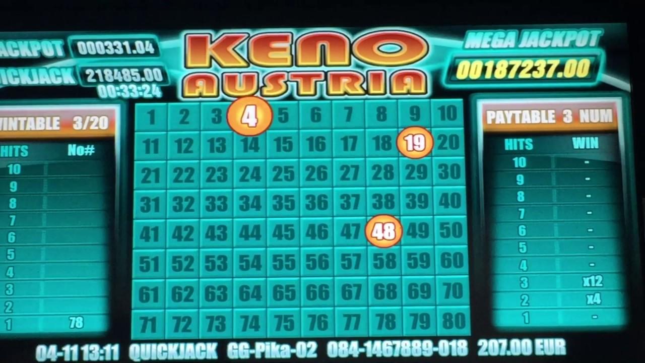 Jackpot keno Curaçao como 35190