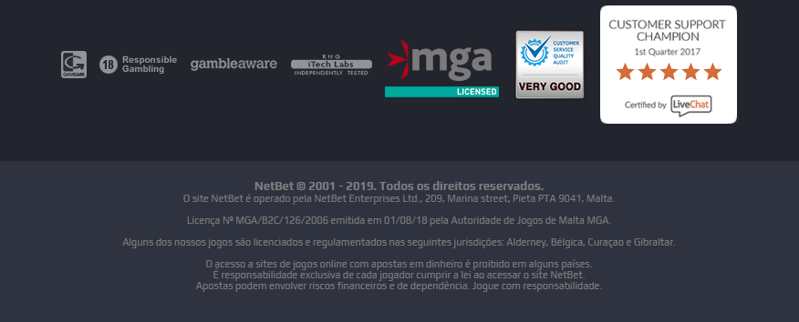 Licenca MGA netbet é 12645