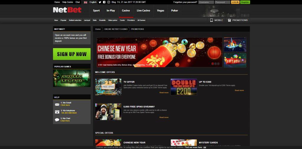 Bonus casino netbet apostasonline 41809