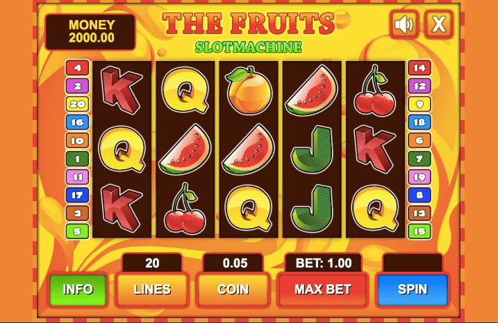 Caça níqueis fruta contar 13624