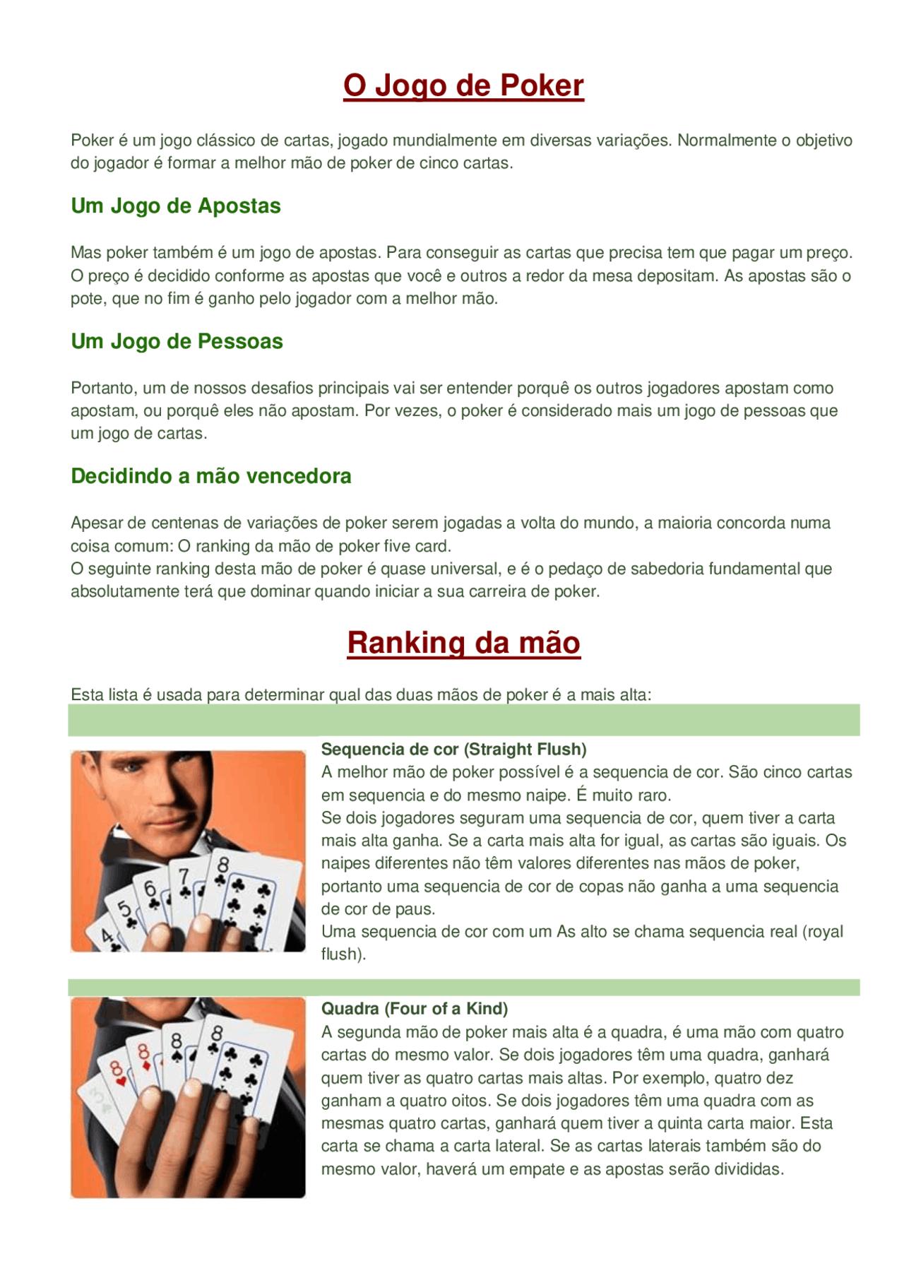 Jogou ganhou aposta poker 26954